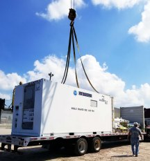 Loading lab van on truck