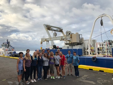 During GP15's stop in Hilo, HI, students from the University of Hawaii toured the R/V Roger Revelle.