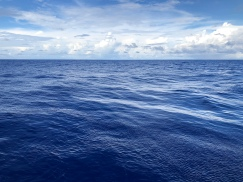 A calm day in the tropical Pacific Ocean.